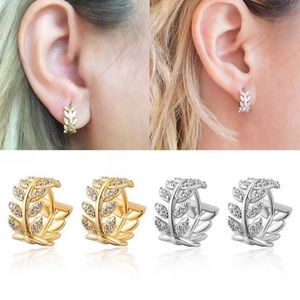 NWT Silver or Gold Tone Crystal Huggie Earrings
